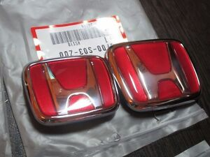 Front Rear Emblems H Red Genuine Jdm Honda Civic Ek9 Type r 96 00 eg 92 95