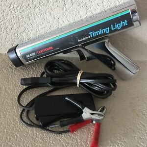 Vintage Chrome Sears Craftsman Inductive Timing Light Gun 2194 W Leads