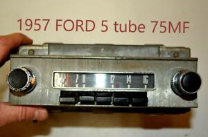 Old 1957 Ford 75mf Fomoco Classic Retro Vintage Original Car Dash Radio