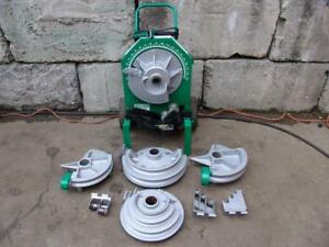 Greenlee 555 Electric Bender 1 2 To 2 Inch Emt Imc Rigid Pipe Great Shape