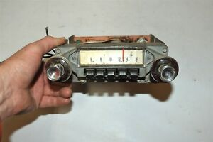 Old 1964 Ford Fairlane Fomoco Classic Retro Vintage Original Car Dash Radio Usa