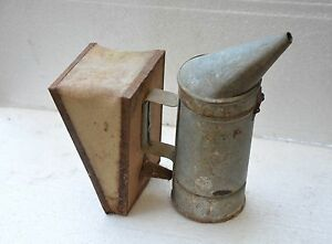 1965 Old Vintage Bulgarian Bee Smoker Bellows Beehive Tool