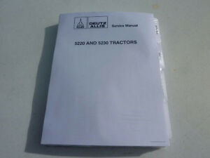 Deutz Allis 5220 5230 Tractor Service Repair Manual