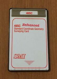 Smi 48sc Surveying Card For Hp 48gx Calculator
