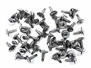 Amc Chrome Wheel Well Trim Molding Screws Self Tap Washer Head Qty 50 230f