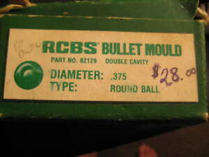 RCBS BULLET MOULD DOUBLE CAVITY .375 ROUND BALL