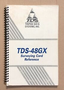 Tds Survey Card Reference Manual For Hp 48gx Calculator