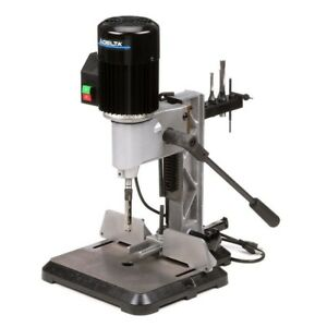 Delta Mortising Machine 1 2 Hp 120v Bench Top Cast iron Gas filled Rotating Head