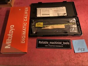 new Mitutoyo Japan Made 8 Inch Absolute Digital Caliper machinist Tool P52