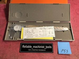 New Mitutoyo 12 Inch Dial Caliper Model 505 677 d12tn Machinist Tool p53