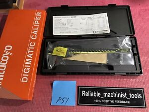 new Mitutoyo Japan Made 8 Inch Absolute Digital Caliper machinist Tool P51