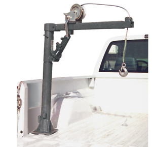 1 2 Ton Capacity Pickup Truck Crane Cable Winch Lift Load Bed Pickup Trailer
