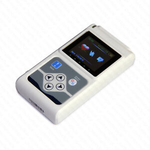 Tlc9803 Ecg Holter Monitor Dynamic 3 channel 24hrs Recorder Pc Software Analyzer
