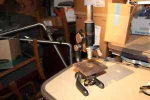 Bausch Lomb Vintage Microscope With Wooden Box