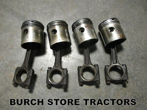 Official Ih Farmall Cub C60 Engine Connecting Rods Pistons