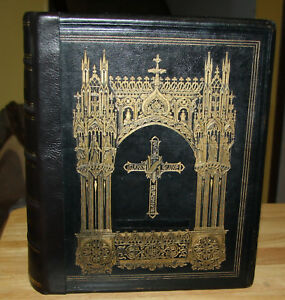 Antique 1857 Catholic Family Bible Douay Rheims Completely Restored Beautiful