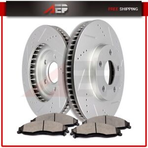 Front Drilled Slottedbrake Rotors Ceramic Pads For Chevy Camaro Pontiac Firebird