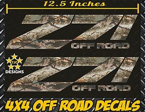Z71 Offroad Decals Set Real Tree Camouflage For Chevrolet Silverado Camo Chevy