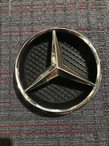 Front Grille Center Badge Logo Chrome W support Mercedes Benz Oem a0008171416