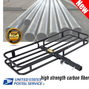 Folding Steel Cargo Carrier Luggage Basket Mounted Rack Hitch Car Suv Truck Atv