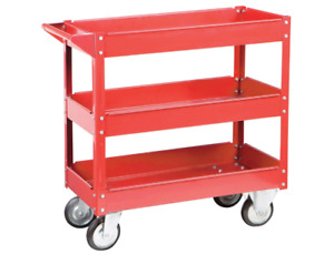 30 In X 16 In Three Shelf Steel Service Cart Moving Tools Parts Auto Shop Garage