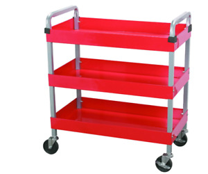 30 In X 16 In Three Shelf Steel Service Cart Organize Tools Parts Supplies Shop