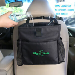 Auto Car Waterproof Trash Bag Litter Bin Can Garbage Storage Organizer Box
