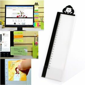 Excelityfashion Computer Monitor Side Panel Multifunction Memo Pad Transparent