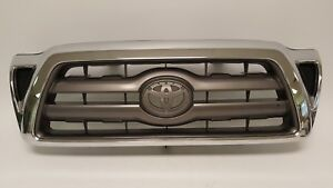 2005 2011 Toyota Tacoma Front Bumper Cover Chrome Grill 05 06 07 08 09 10 11 Oem