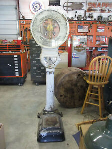 Antique Toledo Lollipop Your Weight Free Scale 78 Tall