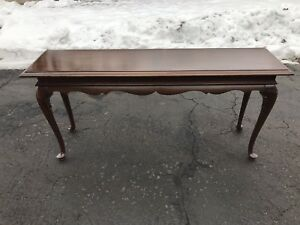 Ethan Allen Georgian Court Cherry Vintage 225 Finish Extra Long Sofa Table