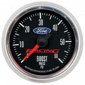 Autometer Am880106 Ford Racing 52mm Mechaniacl 0 60psi Boost Gauge