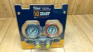 Yellow Jacket 49983 Titan 4 Valve Test And Charging Manifold New Free Ship