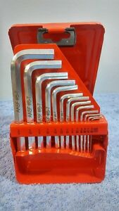 Snap on 15 Piece L shaped Hex Wrench Set 028 3 8 028 032 Missing