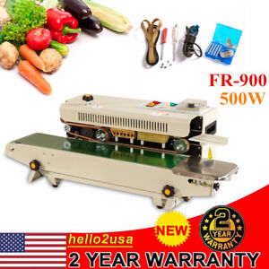 Industry Automatic Horizontal Continuous Plastic Bag Band Sealing Machine Sealer