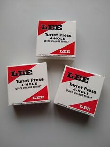 Lee 90269 4-Hole Turret - Quantity 3 - Holds dies for turret press - Brand New