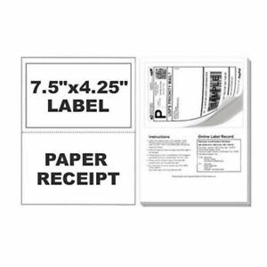 1500 Paypal Ebay Clicknship Shipping Labels W Tear Off Paper Receipt
