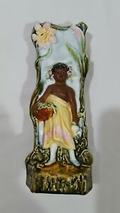 Vintage Hawaiian Handpainted Ceramic Glazed Stamped Vase 6 X 3 5 X3