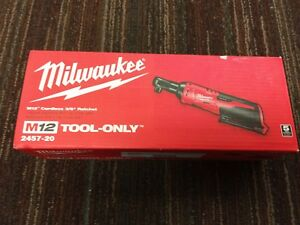 Milwaukee Lithium ion Cordless 3 8 Ratchet 2457 20 tool only New
