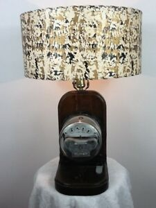 True Vintage General Electric Wilkinson Single Phase Watthour Meter Lamp Works