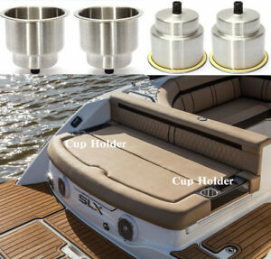 4x Marine Stainless Steel Drink Cup Holder Insert Universal Brushed For Boat Car