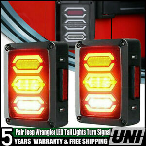 For Jeep Wrangler Jk Accessories Led Tail Lights Red Rear Reverse Turn Signal