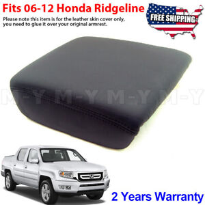 Fits 2006 2014 Honda Ridgeline Leather Center Console Lid Armrest Cover Black
