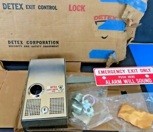 Detex Exit Control Lock 414a Panic Bar Alarmed Door Lock Unused