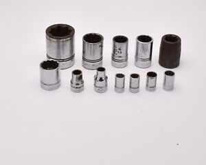 Williams 12 Piece Misc 1 4in 3 8in 1 2in Drive Sae Socket Lot Usa T865