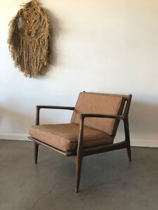 Ib Kofod Larsen For Selig Danish Lounge Chair Mid Century Modern