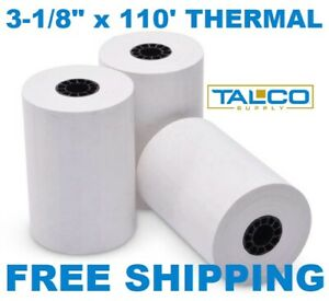 50 3 1 8 X 110 Thermal Receipt Paper Rolls fast Free Shipping