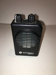 Motorola Minitor V 5 Uhf Band Pager 453 462 Mhz 2 frequency Stored Voice