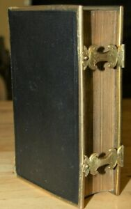 Antique 1851 Common Prayer And New Testament Holy Bible Brass Edging