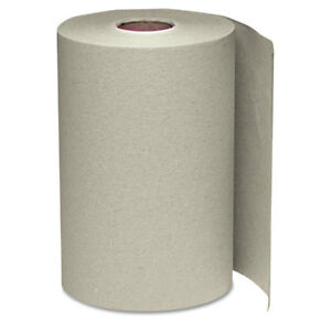 Windsoft Nonperforated Paper Towel Roll 8 X 350ft Brown 12 Rolls carton